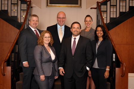 pictured from Left to right: Osha Liang Partners Aron Griffith, Carlyn Burton, Jeff Bergman, Jonathan Osha, Tammy Terry, Seema Mehta