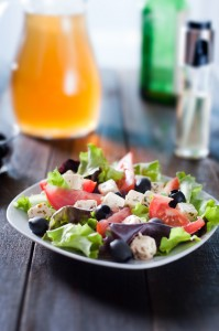 Photo of diet and healthy mediterranean salad