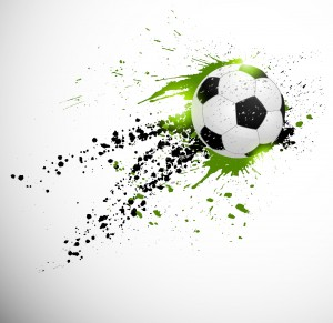 Grunge deign. Brazil soccer world cup. Editable EPS 10